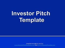 Free Investor Pitch Template